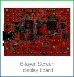 6-layer Screen display board