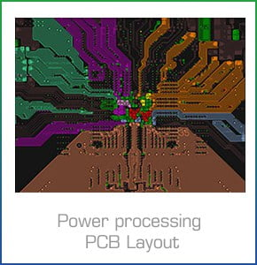 Stroomverwerking PCB-lay-out