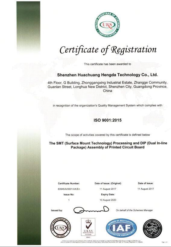 Certificado ISO-9001-2015