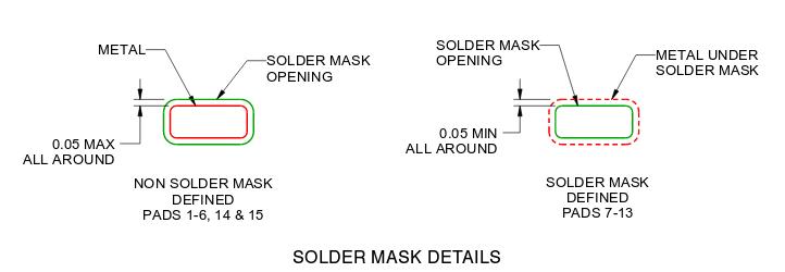solder mask on flex circuit
