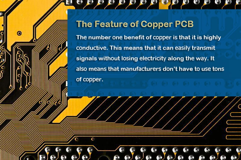 the feature of copper pcb