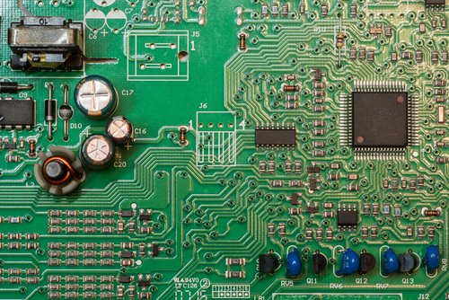 Different components of single sided PCB